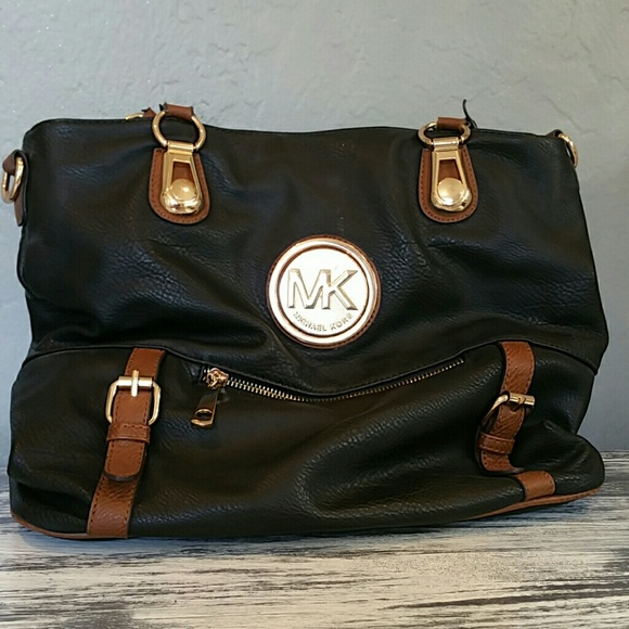 lower price with latest discount half price Fake Michael kors bag used in brown and black
